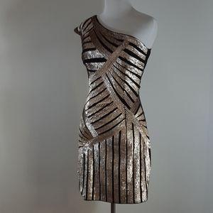 Lipsy London gold on black dress  US size 6